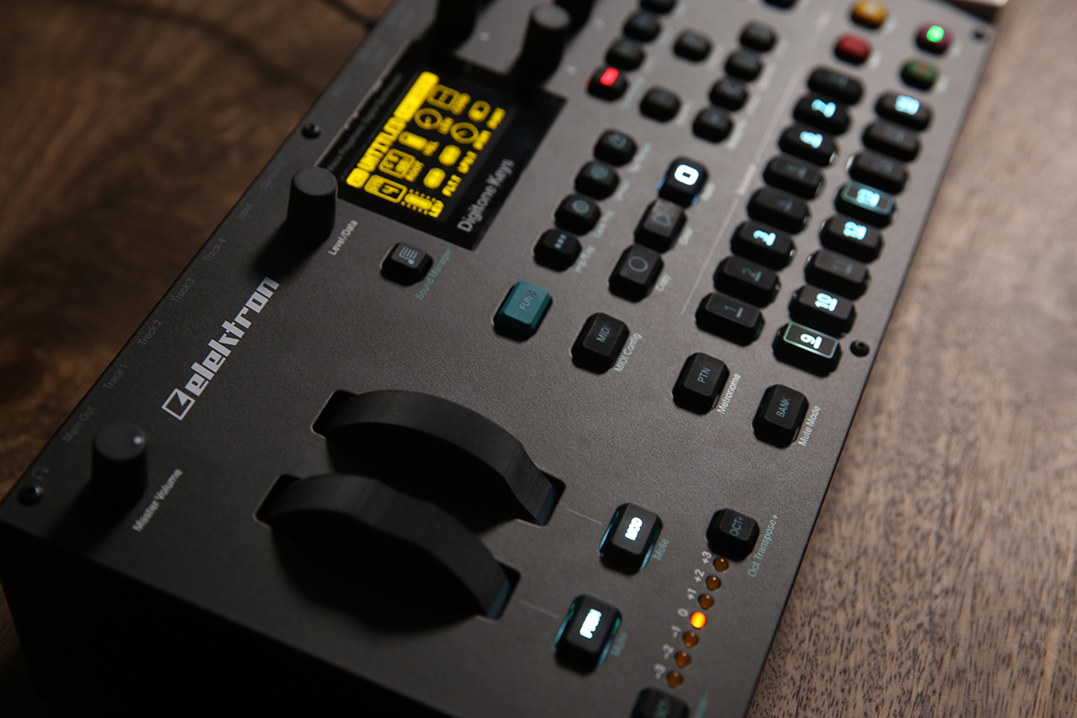 Profile view of the Digitone Keys