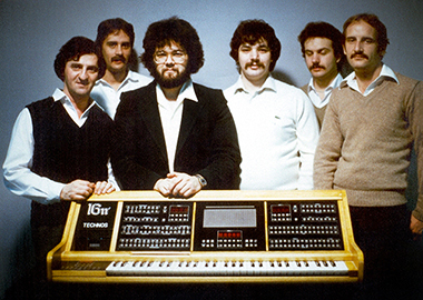 Technos crew with the 16pi, c. 1985