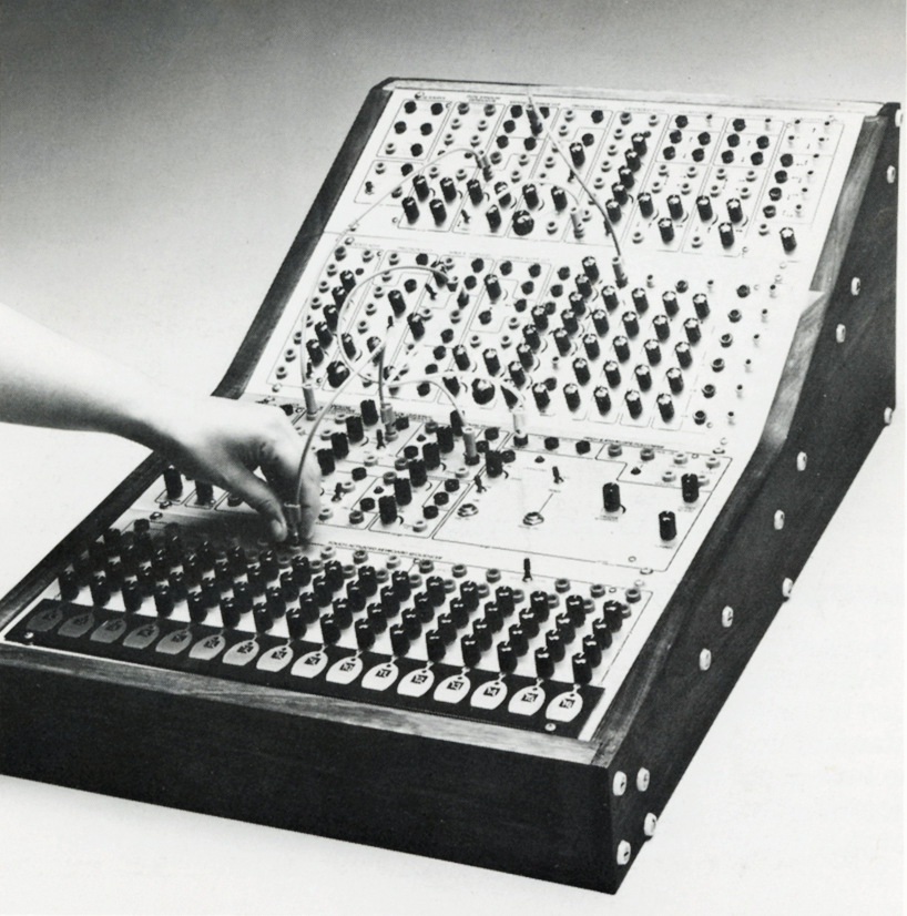 A Serge system featured in a STS product mailer, c. 1990.