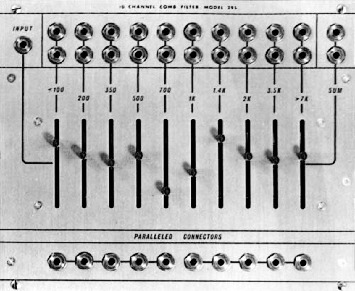 The Buchla 295, direct predecessor to the formidable 296 Programmable Spectral Processor.