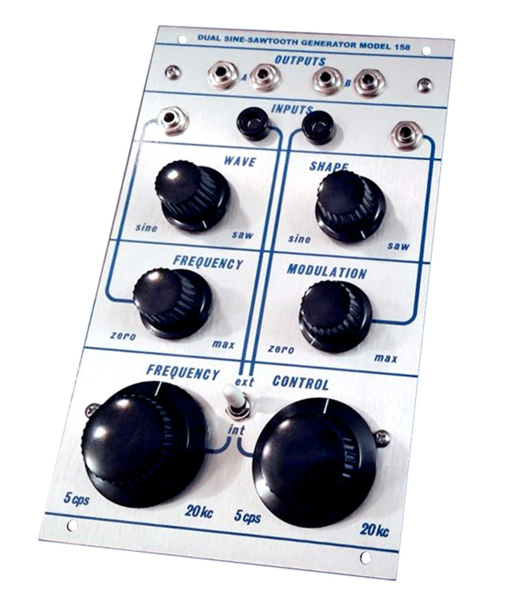 Buchla's dual oscillator model 158 was created with an idea of one oscillator being used to modulate the frequency of the other