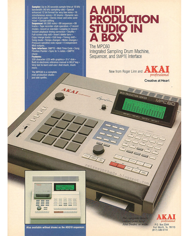 Early ad for the Akai MPC