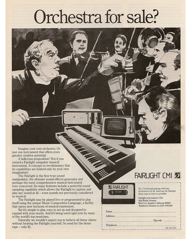 Ad for the Fairlight CMI