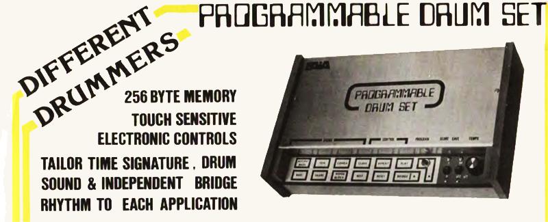 PAiA's Programmable Drum Set, c. 1978