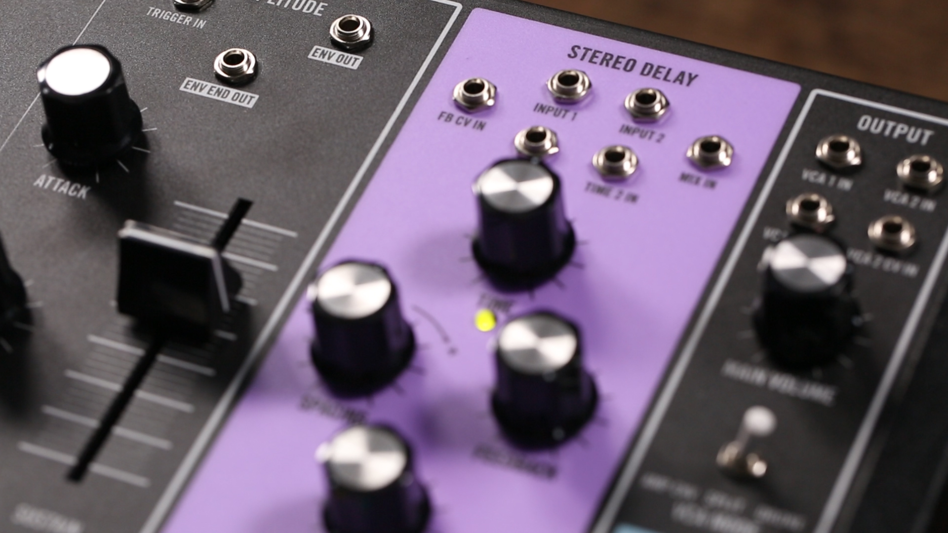 This delay is stereo, analog, voltage-controllable—and purple.