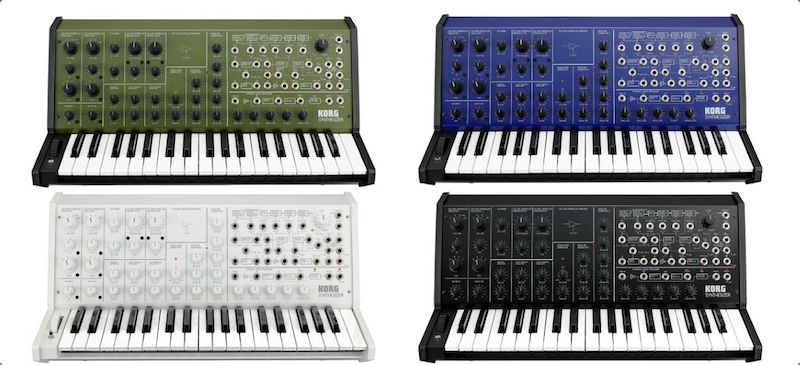 Four color options for the Korg MS-20 FS