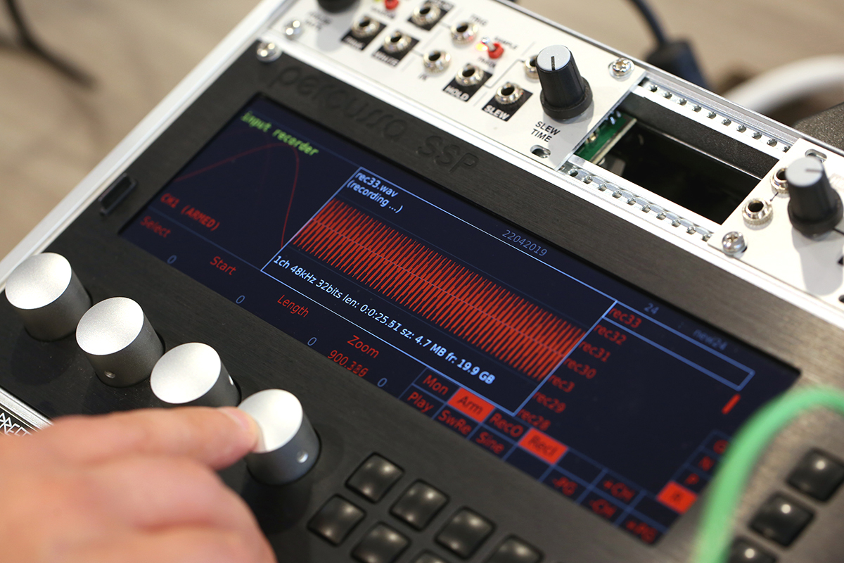 Recording and editing external signals with the Percussa SSP.