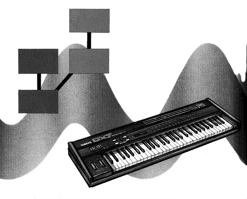 A crazy DX-7 graphic from John Chowning's