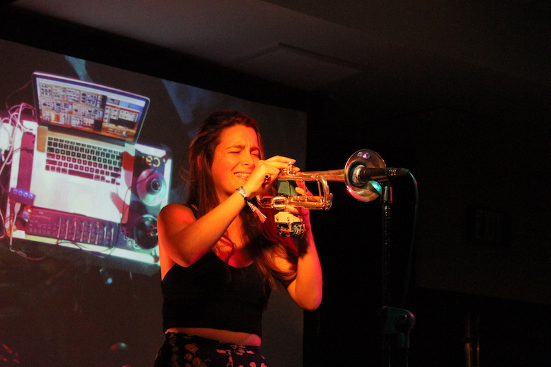 Sarah Belle Reid performing with MIGSI at Synthplex 2019 <i>(PC Data Cult Audio)</i>