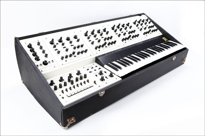 The Oberheim Four-Voice, an early programmable polyphonic analog synthesizer.