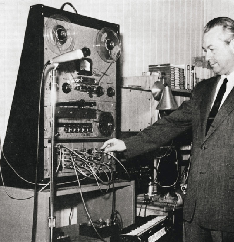 Bode with his Audio System Synthesizer