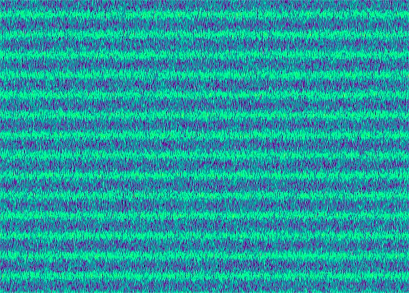 Sonogram of comb filtering with white noise