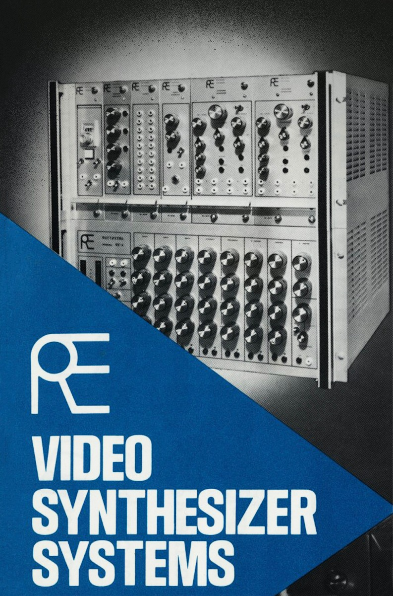 The front of a vintage Rutt-Etra Video Synthesizer Systems product brochure.