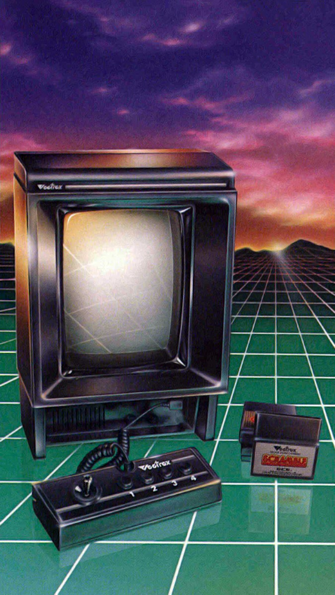 Image from a vintage Vectrex product brochure.