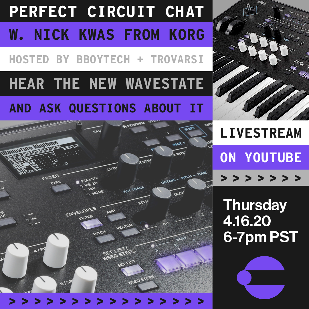 Perfect Circuit Chat w/ Nick Kwas From Korg w/ The Wavestate