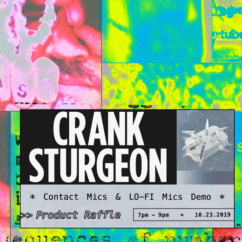 Contact Microphones With Crank Sturgeon