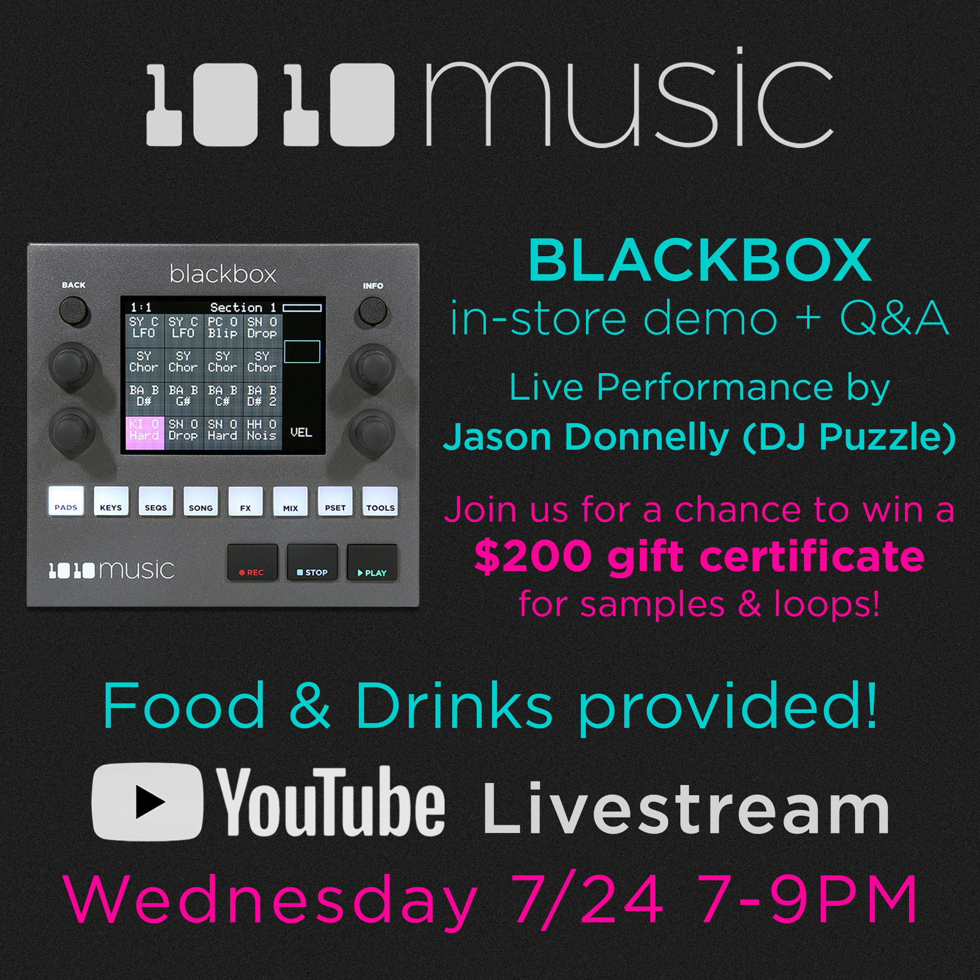1010 Music Blackbox In-Store Demo + Q&A