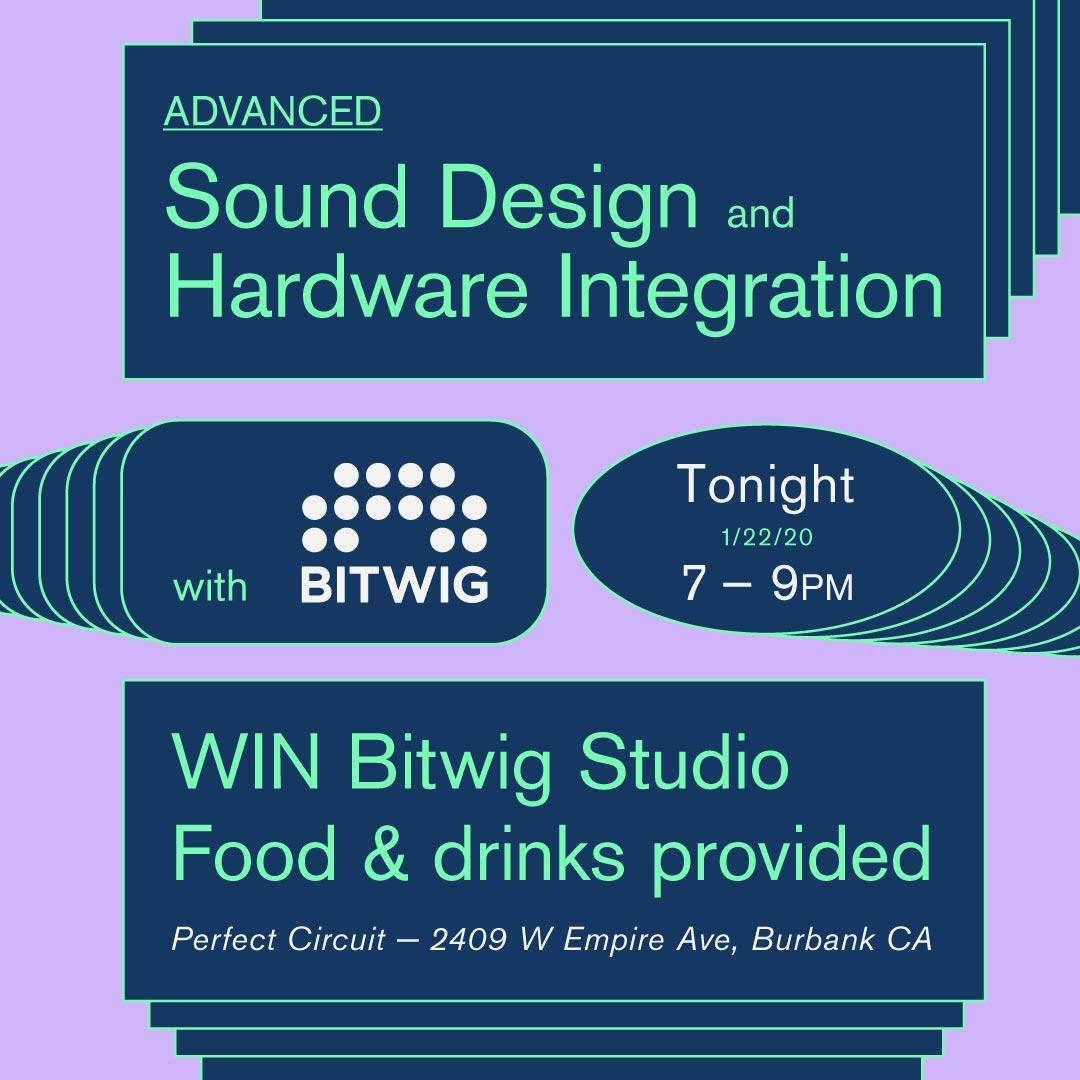 Advanced Sound Design + Hardware Integration w/ Bitwig