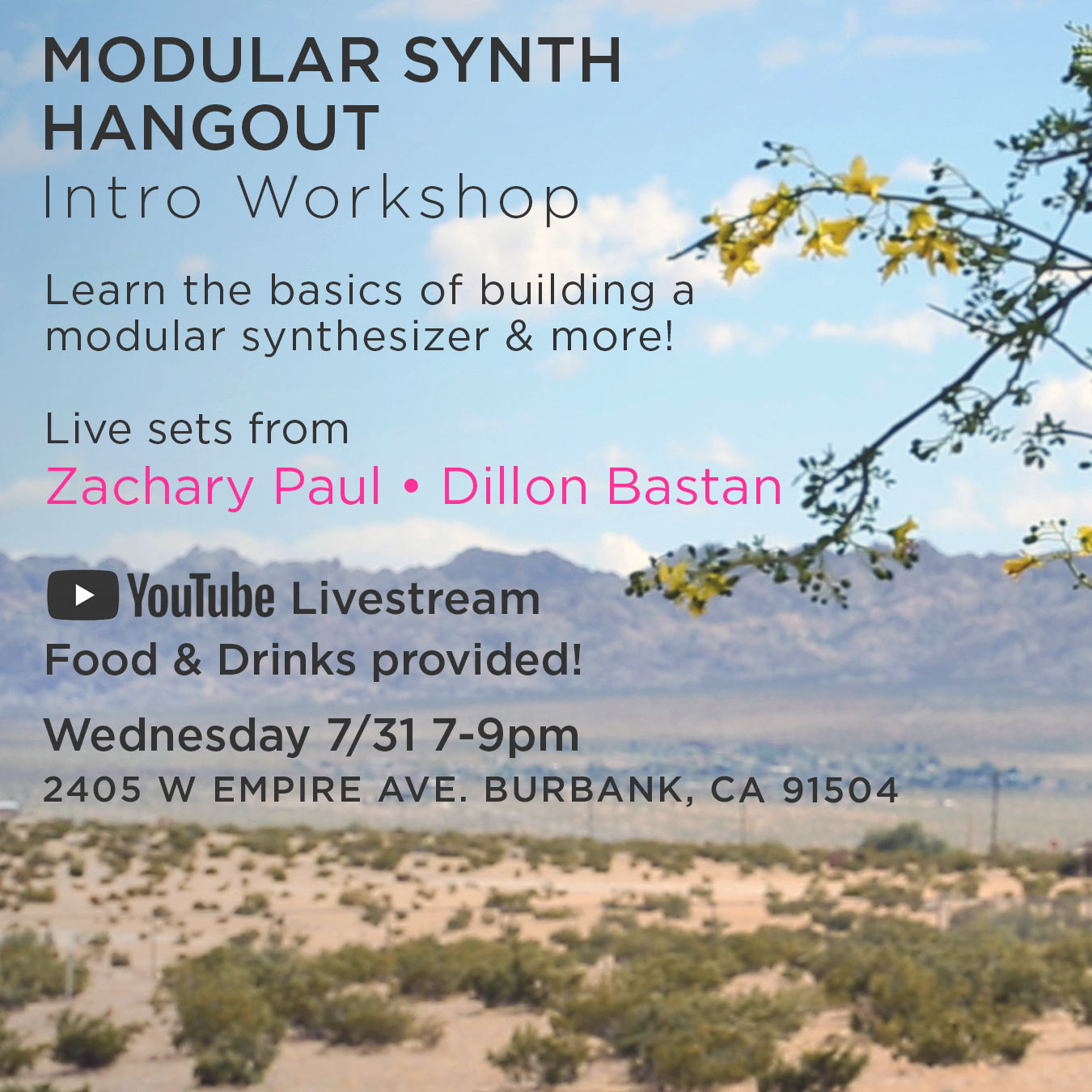 Modular Synth Hangout + Intro Workshop