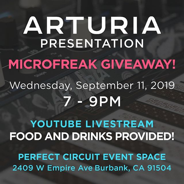 An Evening With Arturia: Presentation and Microfreak Giveaway
