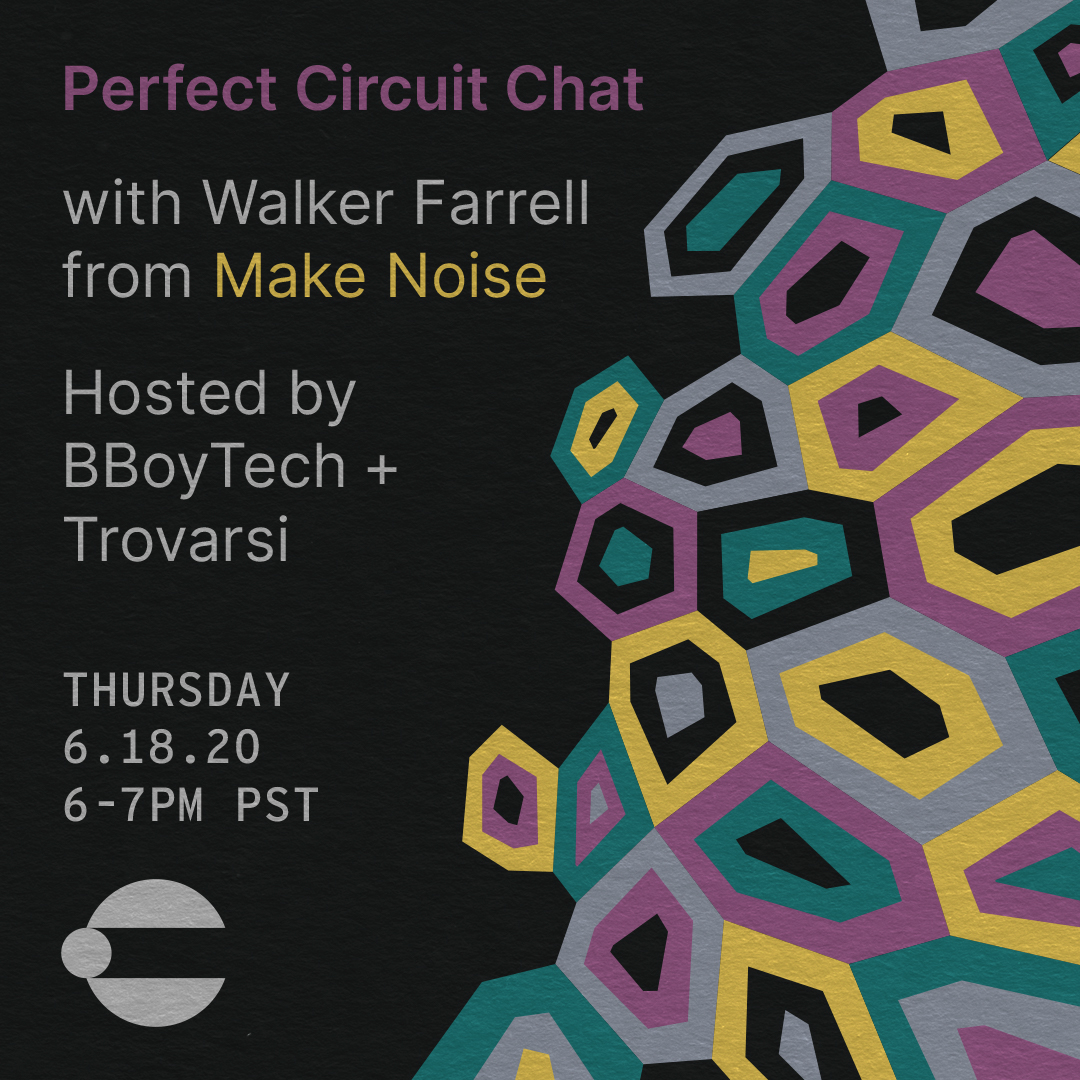 Perfect Circuit Chat with Walker Farrell of Make Noise Hosted By BboyTech and Trovarsi